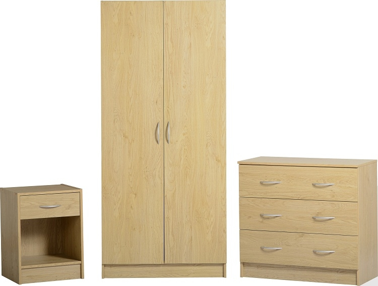 Flatpack2go Flat Pack Bellingham Bedroom Set Beech