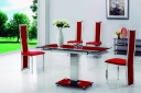 Gami 601 Ext Dining Set - Red