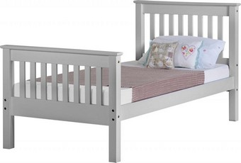 Monaco Single Bed High - Grey
