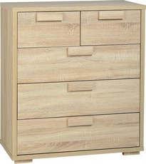 Cambourne 3+2 Drawer Chest - Light
