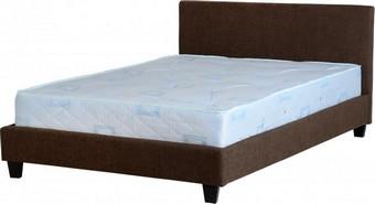 Prado Double Bed - Brown Fabric