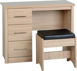 Lisbon Dressing Table Set - Oak