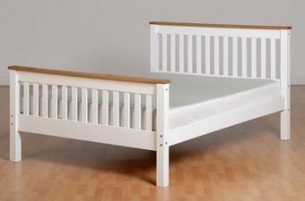 Corona Double Bed High - White