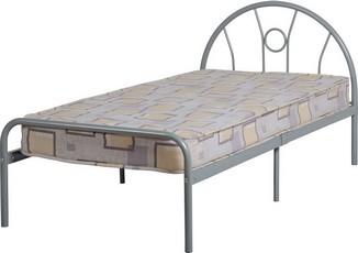 Nova Single Bed - Silver