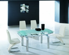Delta 632 Ext Dining Set - Frosted