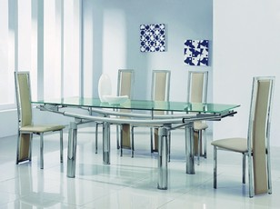 Delta 601 Ext Dining Set - Frosted