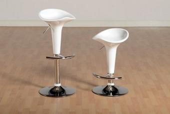Bali Swivel Bar Chairs - White