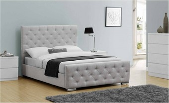 Buckingham Fabric Bed - Grey