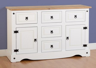 Corona 2 Door Sideboard - White