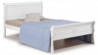 Georgia Double Bed - White