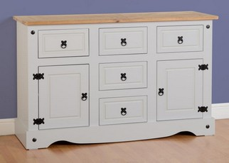 Corona 2 Door Sideboard - Grey